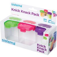SISTEMA Knick Knack Square 138 ml Boxes - Pack of Three
