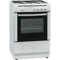 ESSENTIALS CFSG60W17 60 cm Gas Cooker - White, White