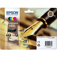 EPSON  Pen & Crossword T1636 XL Cyan, Magenta, Yellow & Black Ink Cartridge - Multipack, Cyan