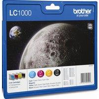 BROTHER LC1000 Cyan, Magenta, Yellow & Black Ink Cartridges - Multipack, Cyan