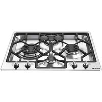SMEG Classic PGF64-4 Gas Hob - Stainless Steel, Stainless Steel