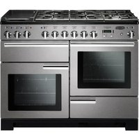 RANGEMASTER Professional Deluxe 110 Dual Fuel Range Cooker - Stainless Steel & Chrome, Stainless Steel
