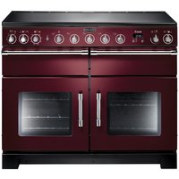 RANGEMASTER Excel 110 Electric Induction Range Cooker - Cranberry & Chrome, Cranberry