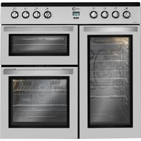 FLAVEL MLN9CRS 90 cm Electric Range Cooker - Silver, Silver