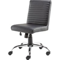 ALPHASON Lane Leather-look Operator Chair - Black, Black