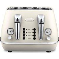 DELONGHI Distinta CTI4003.W 4-Slice Toaster - White, White