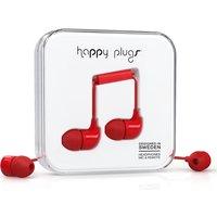 HAPPY PLUGS Headphones - Red, Red