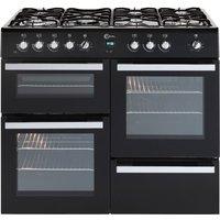 FLAVEL  Milano 100 MLN10FRK Dual Fuel Range Cooker - Black & Chrome, Black