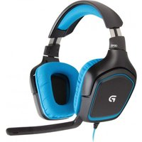 LOGITECH G430 Gaming Headset - Black & Blue, Black
