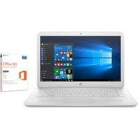 "HP  Stream 14-ax054sa 14"" Laptop - White, White"
