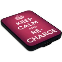 JACK & CABLES Keep Calm and Re-Charge Portable Power Bank - Pink, Pink