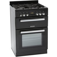 MONTPELLIER RMC60DFK 60 cm Dual Fuel Cooker - Black & Stainless Steel, Stainless Steel