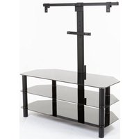 LOGIK S105BR14 TV Stand with Bracket, Black