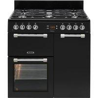 LEISURE Cookmaster CK90F232K 90 cm Dual Fuel Range Cooker - Black & Chrome, Black