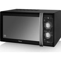 SWAN  Retro SM22070BN Solo Microwave - Black, Black