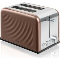 SWAN ST19010TWN 2-Slice Toaster - Copper Twist