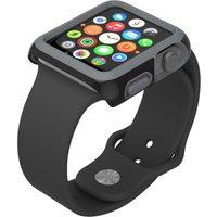 SPECK CandyShell Fit SPK-A4134 38 mm Apple Watch Case - Black & Slate Grey, Black