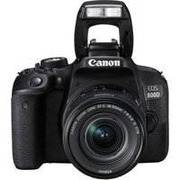 CANON EOS 800D DSLR Camera with 18-55 mm f/3.5-5.6 Zoom Lens - Black, Black