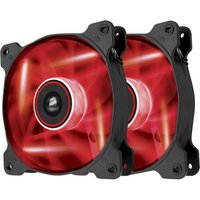 CORSAIR Air Series AF120 CO-9050016-RLED Twin 120 mm Case Fans - Red LED, Red