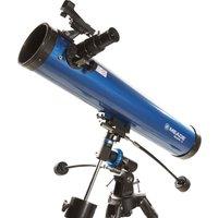 MEADE  Polaris 76 EQ Reflector Telescope - Blue, Blue