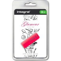 INTEGRAL Glamour USB 2.0 Memory Stick - 8 GB, Red, Red