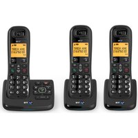 BT  XD56 Cordless Phone with Answering Machine - Triple Handsets