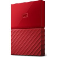 WD  My Passport Portable Hard Drive - 1 TB, Red, Red