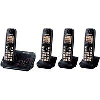 PANASONIC KX-TG6624EB Cordless Phone with Answering Machine - Quad Handsets