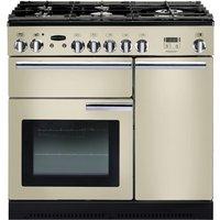 RANGEMASTER  Professional 90 Dual Fuel Range Cooker - Cream & Chrome, Cream