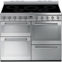 SMEG Symphony 110 cm Electric Induction Range Cooker - Stainless Steel, Stainless Steel