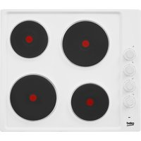 BEKO  HIZE64101W Electric Solid Plate Hob - White, White