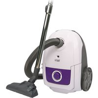 RUSSELL HOBBS RHBCV2502 Cylinder Vacuum Cleaner - White & Purple, White