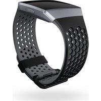 FITBIT Ionic Sport Band - Black & Grey, Large, Black