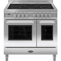 BRITANNIA Q Line 90 Twin Electric Induction Range Cooker - Stainless Steel, Stainless Steel