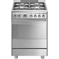 SMEG  SUK61PX8 60 cm Dual Fuel Cooker - Stainless Steel, Stainless Steel