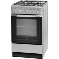 INDESIT  I5GG1S Gas Cooker - Silver, Silver