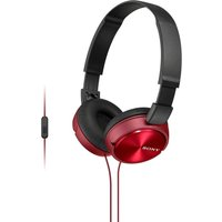 SONY MDR-ZX310APR Headphones - Red, Red