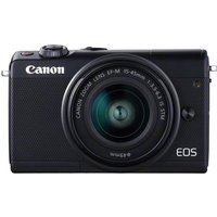 CANON EOS M100 Mirrorless Camera with EF-M 15-45 mm f/3.5-6.3 Lens - Black, Black