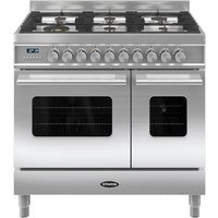BRITANNIA Delphi 90 RC9TGDES Duel Fuel Range Cooker - Stainless steel, Stainless Steel