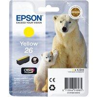 EPSON Polar Bear T2614 Yellow Ink Cartridge, Yellow