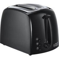 RUSSELL HOBBS  Textures 21641 2-Slice Toaster - Black, Black