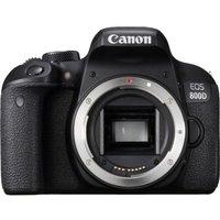 CANON EOS 800D DSLR Camera - Black, Body Only, Black