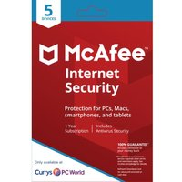 MCAFEE Internet Security - 1 user / 5 devices for 1 year