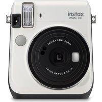 FUJIFILM  Instax Mini 70 Instant Camera - 10 Shots Included, White, White