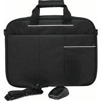 LOGIK L15BUN16 15.6 Laptop Case with Wireless Mouse & Screen Wipes - Black, Black