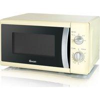 SWAN SM40010CREN Solo Microwave - Cream, Cream