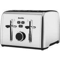 BREVILLE Colour Notes VTT735 4-Slice Toaster - Stainless Steel, Stainless Steel