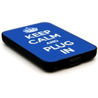 JACK & CABLES  Keep Calm and Plug In Portable Power Bank - Blue, Blue