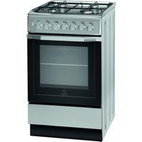 INDESIT  I5GSH1(S) 50 cm Dual Fuel Cooker - Silver, Silver