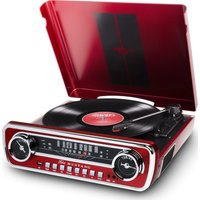 ION Mustang LP Turntable - Red, Red